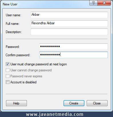 Cara Menambahkan User Login Pada Windows