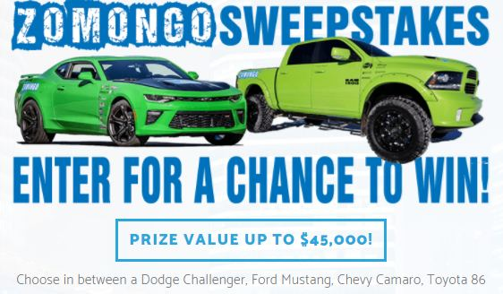U.S Sweepstakes Dec 2018, Win Car VALUE UP TO $45,000