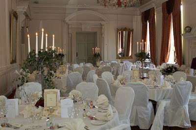 Wedding breakfast room at Coombe Abbey