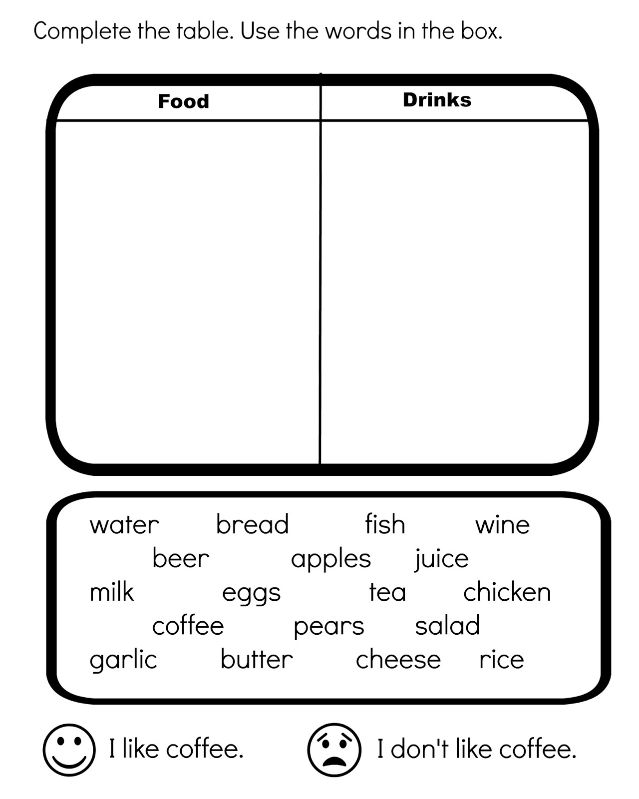 Funglish Food