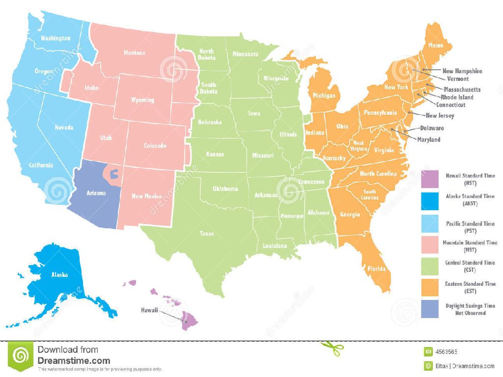time zones in the united states of america map