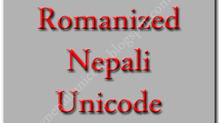 Type in Nepali Unicode - Romanized Nepali Unicode