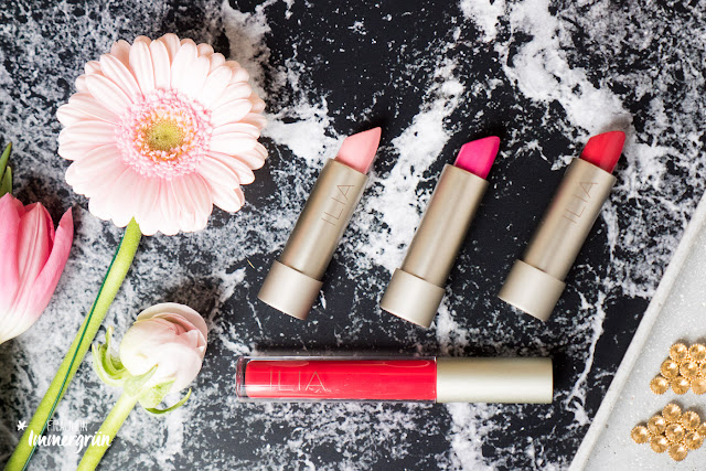 Ilia Lipsticks | Tinted Lip Conditioner Hold Me Now, Lipstick Neon Angel, Tinted Lip Conditioner Bang Bang, Lipglos Heart Beat