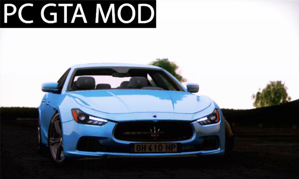 Free Download 2014 Maserati Ghibli S V1.0 Mod for GTA San Andreas.