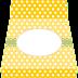 Amarillo con Lunares Blancos: Invitaciones con forma de Bolso para Imprimir Gratis.