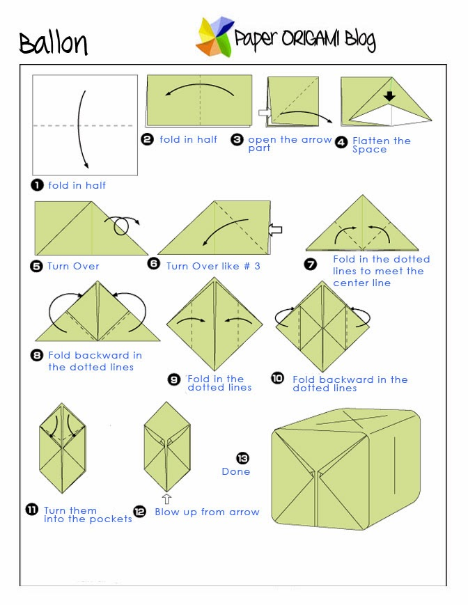 Easy Origami Note Folding