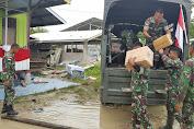 Bersama Bank BRI, Satgas Pamtas Salurkan Bantuan Logistik di Arso 8