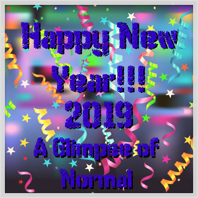 Happy New Year from A Glimpse of Normal.  Thank you for reading my blog.  Look for great things from me this year.