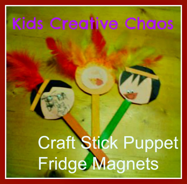 Thanksgiving turkey and american indian craft popsicle for American indian crafts for kids