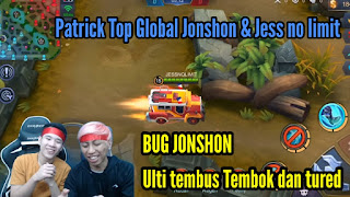 Bug Mobile legend Jonshon Patrick