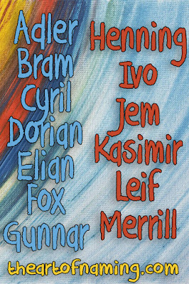 The Art of Naming - adler bram cyril dorian elian fox gunnar henning ivo jem kasimir leif merrill