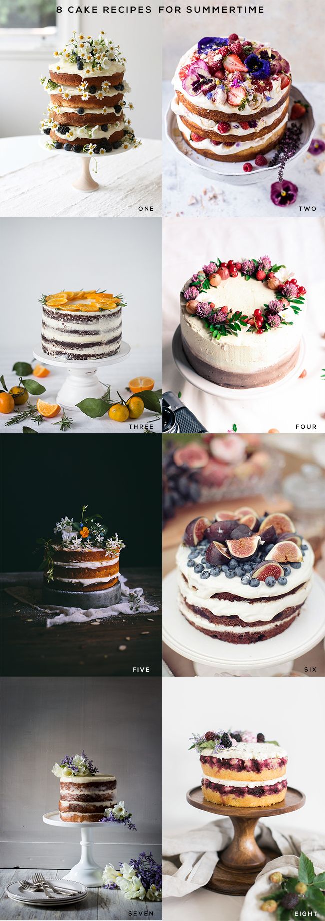8 Cake Recipes for Summertime