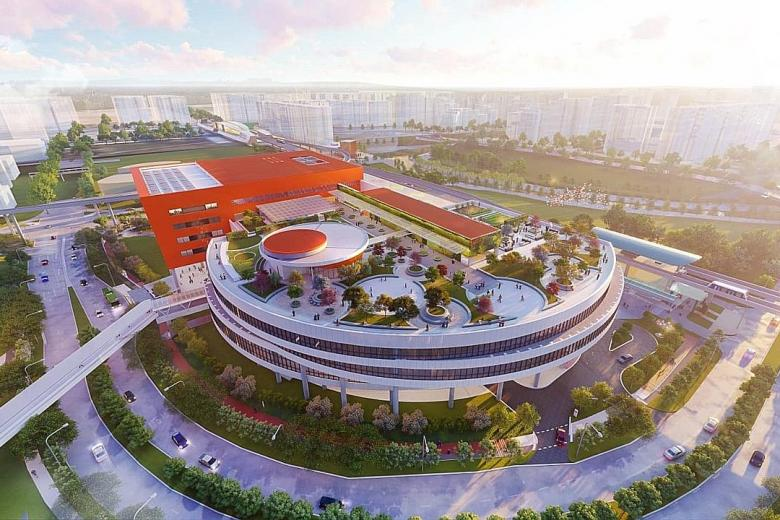 An artist's impression of the upcoming Punggol Town Hub.