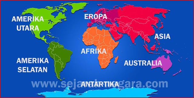 Gambar Peta Benua di dunia