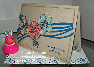 Stampin' Up! Susan Simpson Independent Stampin' Up! Demonstrator, Craftyduckydoodah!, Love & Affection, Swirly Scribbles Thinlets Dies, Floral Affection TIEF,