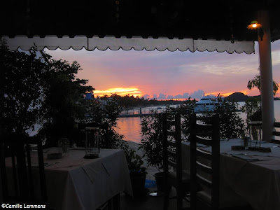 Sunset at Juzza Pizza in Fisherman's Village