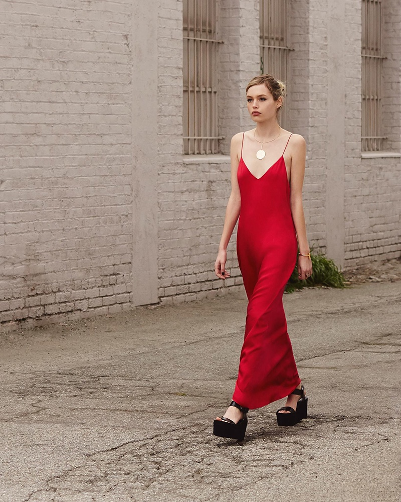 how to wear a slip dress in fall