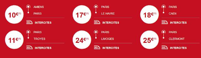 DERNIÈRE MINUTE INTERCITÉS  - 50% sur vos billets de train  Que faites - vous dans les 5 prochains jours ? Profitez de l'offre Happy Hour ! - 50% sur vos billets de train pour découvrir Toulouse, Bordeaux, Deauville, Paris et bien d'autres destinations à petits prix.