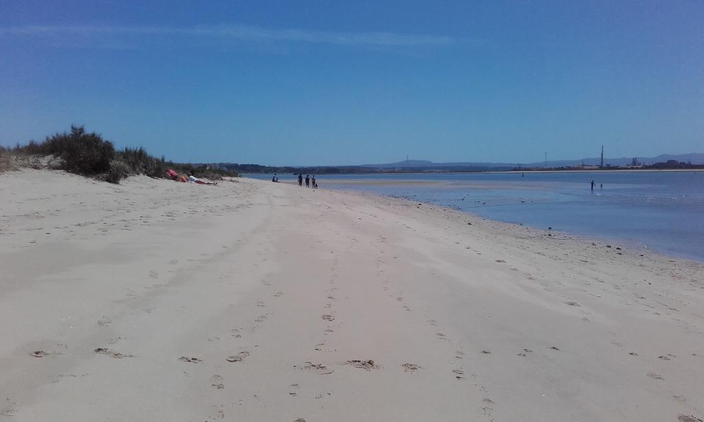 Praia Fluvial do Bico do Mexilhoeiro - Areal com maré baixa