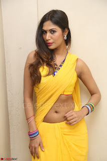 Nishigandha in Yellow backless Strapless Choli and Half Saree Spicy Pics 105.JPG