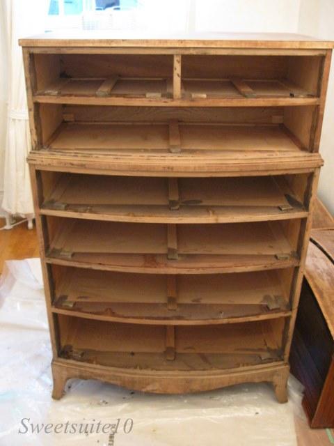 Stripped dresser