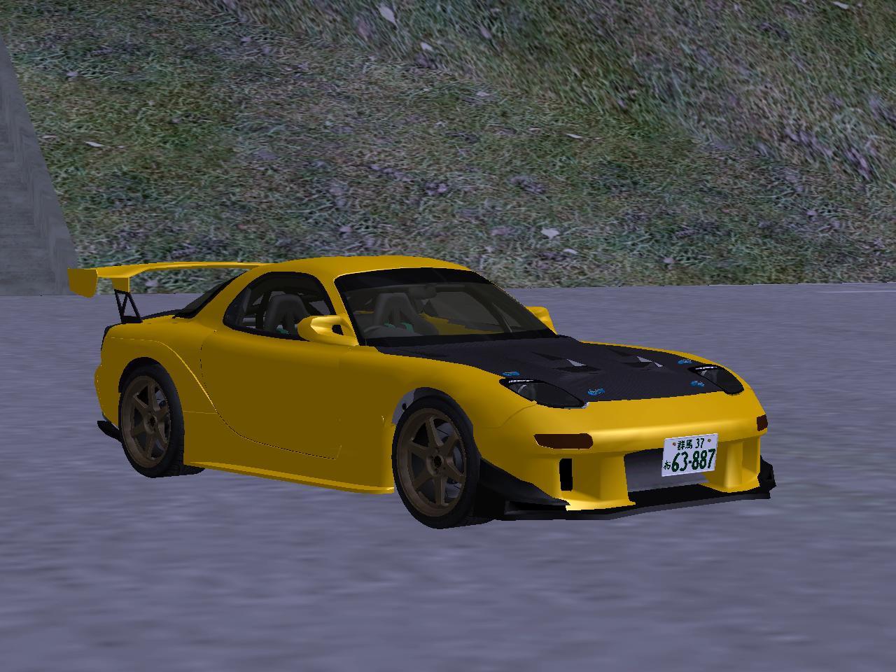 Yokota Workshop: Initial D Fifth Stage Keisuke Takahashi Mazda RX-7 FD3s GTA SA