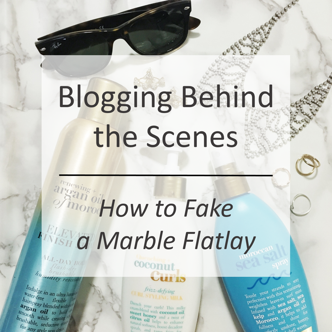 How to Fake a Marble Flatlay Blog