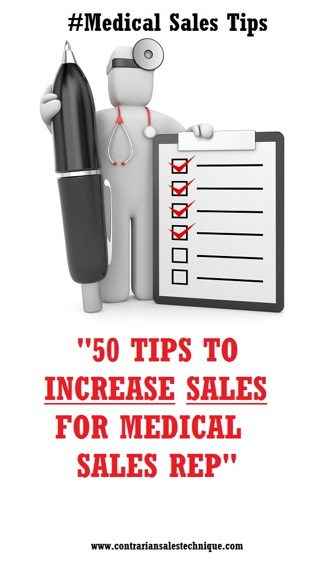 50 tips to increase sales for medical rep