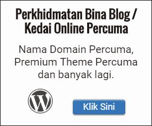 Bina Blog Perniagaan Wordpress Percuma