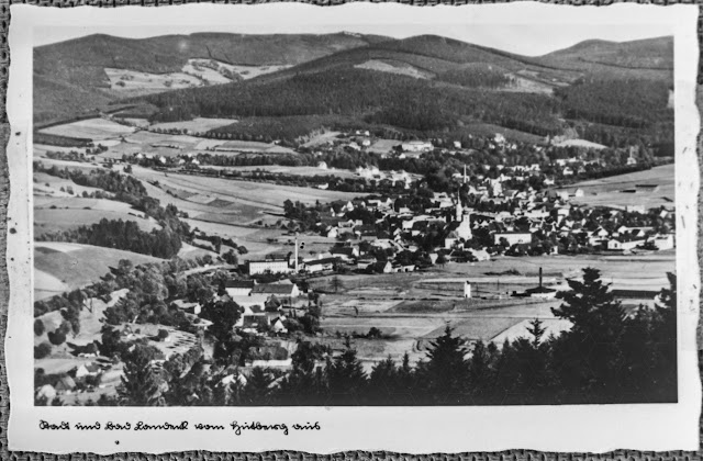 Reproduktion - Postkarte - Stadt und Bad Landeck vom Hutberg aus