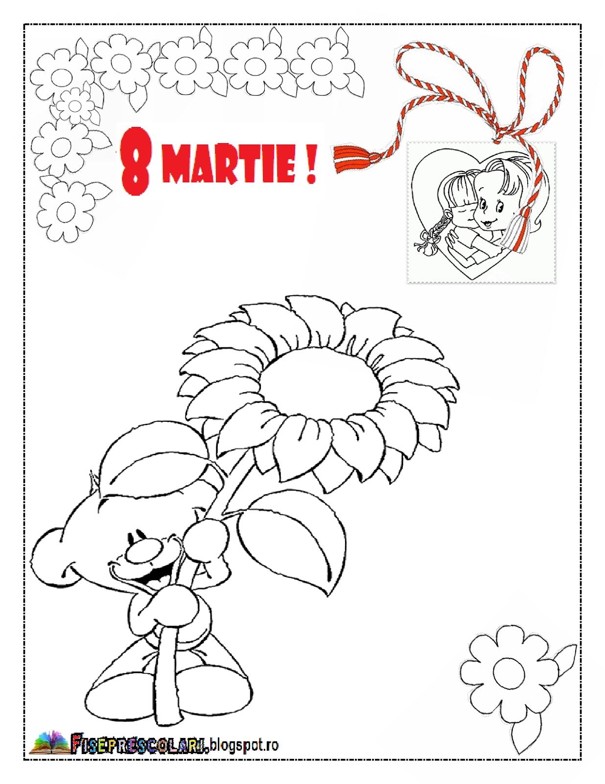 Imagini De Colorat Pentru 8 Martie Planse De Colorat