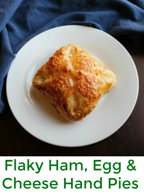 Hand pies stuffed with ham, eggs and cheese are a fun and easy breakfast or brunch main course. They come together quickly and the filling can be easily changed to match your tastes.