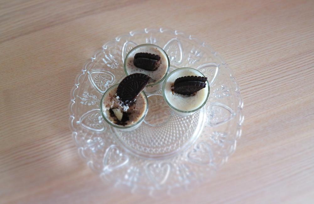 Mousse de oreo + leite condensado + natas + sobremesa mais doce + fácil e rápido + blogue ela e ele +ele e ela + Pedro e Telma + blogue de casal português