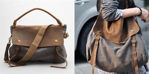 40d34bc38b00 W sezonie jesienno zimowym królować będą duże torby na ramię z grubego  bawełnianego płótna łączonego ze skórą naturalną w stylu vintage.