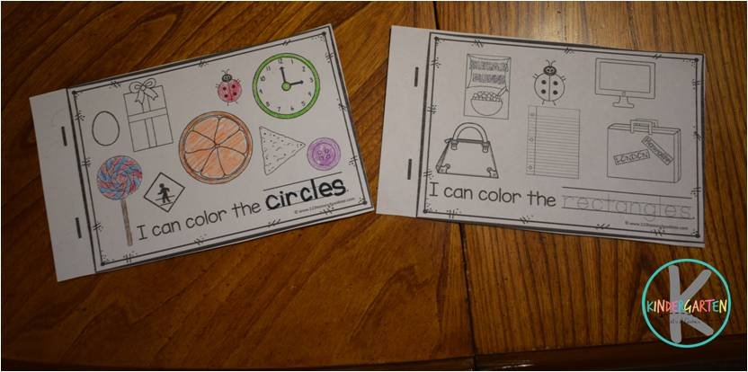Kindergarten Worksheets and Games  FREE Names of Shapes Emergent Reader shape worksheets for toddler  prsechool  prek  kindergarten  and first grade