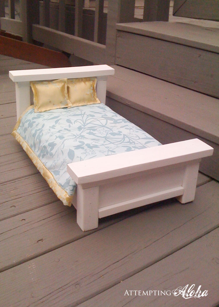 Well With All The Doll Beds I Ve Done Finally Decided To Try A Farmhouse Bed Like This One Of Ana White S That Got Me Started On Begin