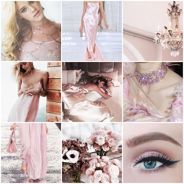 rosegold moodboard aesthetics glamorous