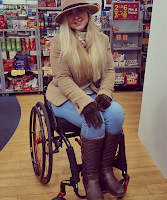 Beautiful Belle Lena McAllister, model and advocate for disabled people