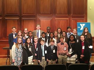 Catholic Middle School Students Recognized at YMCA Junior Youth Legislature 2
