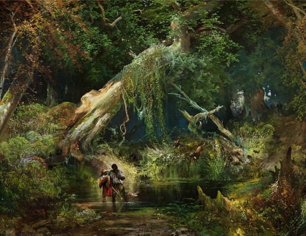 Slave hunt in Dismal Swamp area