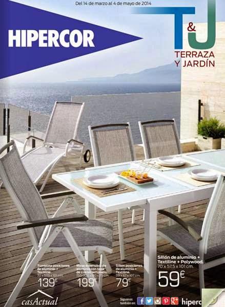 Muebles de Terraza y Jardin Hipercor AbrilMayo 2014