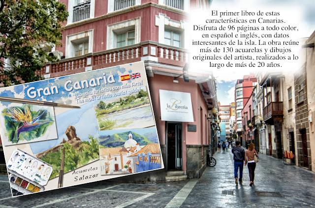 Libro de acuarelas de Gran Canaria. Patrimonio de acuarelas de Gran Canaria. Clases de acuarela.