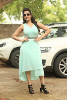 Manjusha in beautiful thin green gown At Jaya Janaki Nayaka le Logo Launch ~  Exclusive 122.JPG