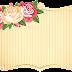 Frame floral em png