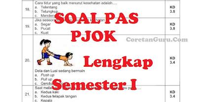 Kumpulan Soal PAS Pelajaran PJOK Semester I SD Kurikulum 2013