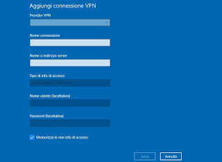 Configura VPN Windows 10