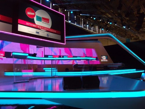 dmexco 2014: Die Bühne in der Congress Hall.