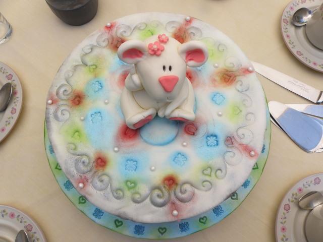 Bärchen Torte mit Prägung und Coloration