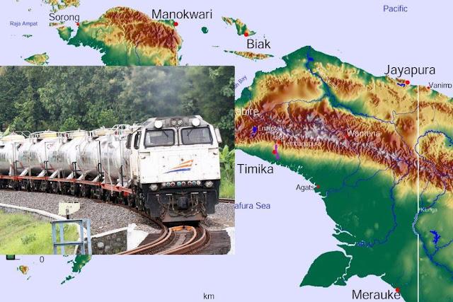 Jalur Kereta Api di Papua (Ilustrasi)