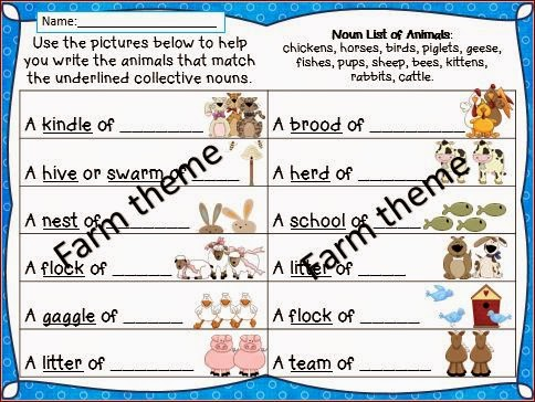 Collective-Nouns-Worksheets
